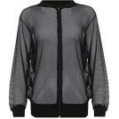 WearAll Jacket - coats -  Wearall Women's Plus Mesh Bomber Jacket Long Sleeve Net Plain Zip Top