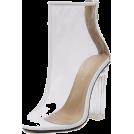 scarlett ✧☆・゚:☆✧ Čizme -  White Transparent Ankle Boots