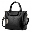 H.Tavel Bag -  Women's Top-Handle Handbags Urban Style 3-Way Soft Leather Shoulder Tote Large