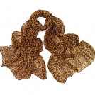 MaiKun Sciarpe -  Womens Brown Leopard Print Long Scarf for Winter and Autumn
