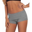 Hot from Hollywood Shorts -  Womens Comfortable Active Foldover Gym Workout Fitted Cotton Shorts