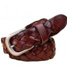 MaiKun Belt -  Women's Genuine Leather Belt Vintage Braided Waist Belt with Pin Buckle