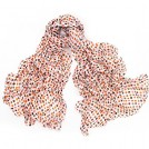 MaiKun Sciarpe -  Womens Long Cotton Scarf Soft Light Weight White with SmallPolka Dots