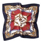 Belle Poque Accessories -  Women's Satin Silk Neckerchief Large Square Scarf Headscarf Headdress 19.7 Inch