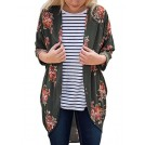 Amazon.com Costume da bagno -  XUERRY Womens Floral Kimono Bikini Cardigan Loose Beach Cover Up Blouse Tops Outwear