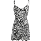 FECLOTHING Vestiti -  Zebra print slim fashion dress