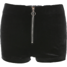 FECLOTHING pantaloncini -  Zipper peach hip shorts