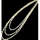 ABISTE(アビステ) Jewelry -  レースチェーン3連ロングネックレス/Gツートーン
