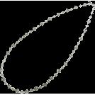 ABISTE(アビステ) Jewelry -  レースチェーンロングネックレス/シルバー