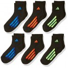 adidas Flats -  adidas Youth Graphic Medium Quarter Sock, Pack of 6