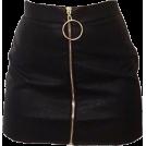 kaiti Smith Skirts -  black zip front skirt