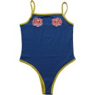 FECLOTHING Fatos -  embroidery blue yellow hit color jumpsui