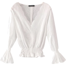 FECLOTHING Camicie (corte) -  embroidery flared sleeve V-neck top