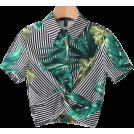 FECLOTHING Shirts -  fashion collar short sleeve shirt stripe