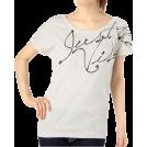 OLLINKARI(オリンカリ) T-shirts -  ゆるドルマン型ロゴ入スタッズ付トップス