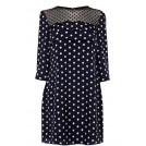 Oasis Dresses -  Spot Scallop Shift Dress