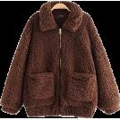 FECLOTHING Jacket - coats -   lambs wool long sleeve jacket