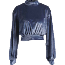 FECLOTHING Long sleeves shirts -  lantern sleeves short vest long sleeves