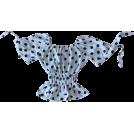 FECLOTHING Shirts -  polka dot puff sleeve chiffon shirt