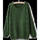 sandra  Puloveri -  sheinside green jumper
