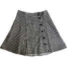 FECLOTHING Skirts -  single breasted high waist lattice skir