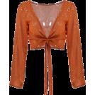 FECLOTHING Cardigan -  strap gilding LONG-sleeved cardigan