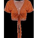 FECLOTHING Cardigan -  strap gilding short-sleeved cardigan