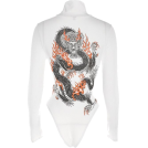 FECLOTHING Overall -  tattoo printing high-necked sculpting bo