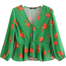FECLOTHING Bolero -  tie with lotus leaf eight-sleeve blouse