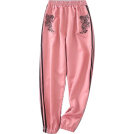 FECLOTHING Capri & Cropped -  tiger embroidery loose casual pants