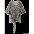 KBF(ケービーエフ) 女士束腰长衣 -  KBF+ 変形プリントシフォン