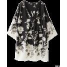 ROSSO(ロッソ) 女士束腰长衣 -  ROSSO パネル花柄プリントチュニック