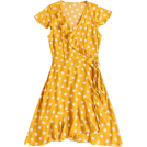 octobermaze  Haljine -  yellow dress white polka dots