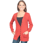 Alki'i Lightweight Lowneck Womens Cardigan Sweater with Front Pockets - 6 colors Rust - Veste - $19.99  ~ 126,99kn