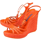 Ralph Lauren 'Daphne 2' Wedge Sandals Womens - Orange - Sandale - $450.00  ~ 2.858,66kn