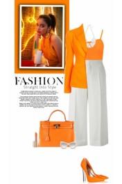 Pops Of Orange - My look