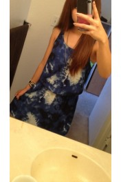 blue one piece - Myファッションスナップ