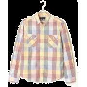 フェイクパッチワークシャツ - 長袖シャツ・ブラウス - ¥4,700