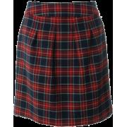 チェックコクーンスカート_ - Skirts - ¥4,600  ~ $40.87