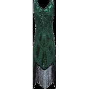 1920s Inspired Fringe Embellished Gatsby - Dresses - $39.99