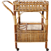 1950s Bamboo Drinks Trolley - Muebles -
