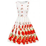 50s Retro Wedding Party Dress Butterfly-Floral Size 2XL CL992-3 - Dresses - $30.99