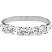 5 Diamonds Wedding Ring, Anniversary Dia - Aneis -