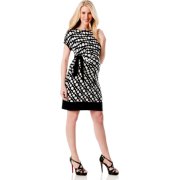 A Pea in the Pod: Donna Morgan Short Sleeve Tie Detail Maternity Dress Dot Multi Print - Dresses - $149.50