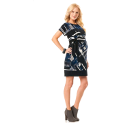 A Pea in the Pod: Donna Morgan Short Sleeve Tie Detail Maternity Dress Print - Dresses - $139.99