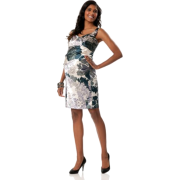 A Pea in the Pod: Donna Morgan Sleeveless Empire Waist Maternity Dress Blue Floral Print - Dresses - $99.99