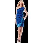 A Pea in the Pod Collection: Donna Morgan Sleeveless Empire Seam Maternity Dress Blue Print - Dresses - $159.50