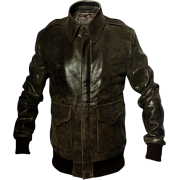 A2 Aviator Distressed Brown Leather Jacket for Mens - Jacket - coats - 223.00€  ~ $259.64