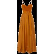 AMUR orange belted silk dress - Obleke -