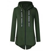 AMZ PLUS Women Plus Size Lightweight Full Zip Up Hooded Sweatshirt Hoodie - Shirts - $25.59